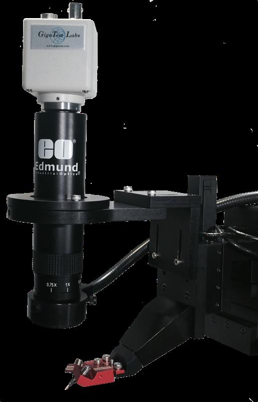 ZCCD camera with the fiber optic light source.