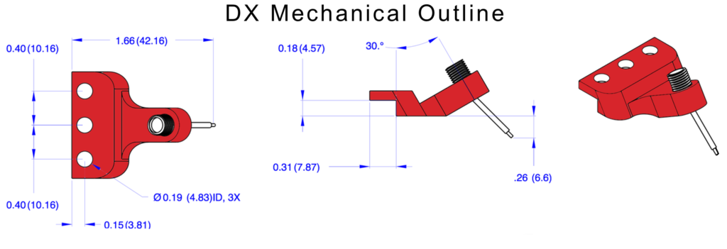 dx probe mechanical outline