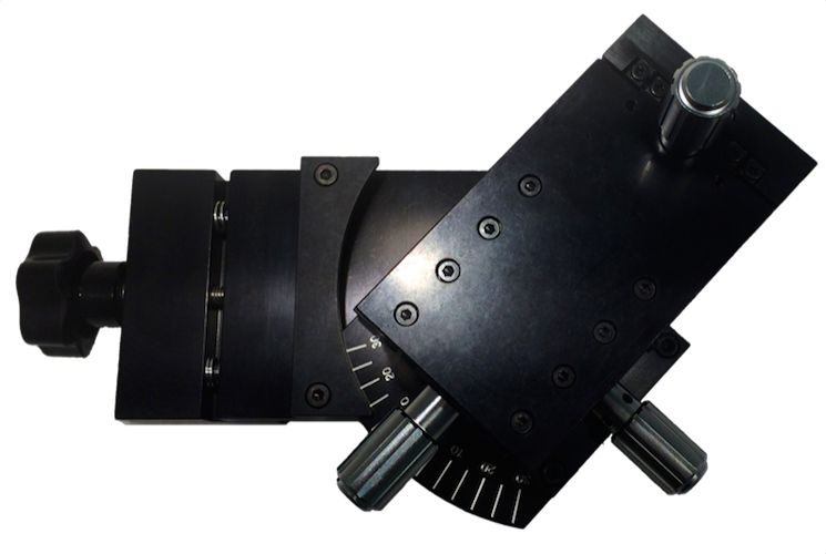 Top down view of a West Positioner on 4 Inch Hard Mount.
